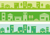 Green city — Stock Vector