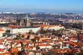 View of the Cathedral of St. Vitus from Petrin hill. Prague. — Fotografia Stock