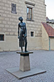 "The sculpture ""Boy Youth"" in the courtyard of the museum of toys — Stockfoto"