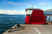 The ferry at the pier — Stock Photo