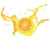 Orange Splash Isolated — Stock Photo
