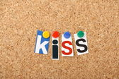 The KISS principle — Stock Photo