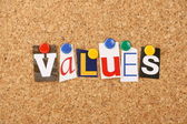 The word Values — Stock Photo