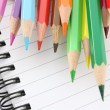 Colored Pencils and Notebooks — Stock Photo #9658170