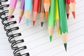 Colored Pencils and Notebooks — Stock Photo
