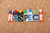 Respect Letters — Stock Photo