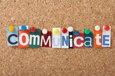 Communicate Letters — Foto Stock