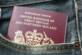 United Kingdom Passport — Stock Photo