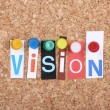 Vision Letters - Stock Photo