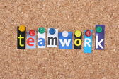 Teamwork Letters — Stock Photo