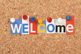 Welcome Letters — Stock Photo