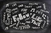 Sociala medier jargong — Stockfoto