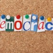 Stock Photo: Democracy in Letters
