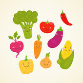 Cute vegetable — Stock Vector
