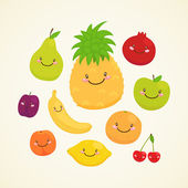 Cute fruit — Stock Vector