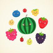 Cute berry — Stock Vector