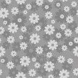 Gray floral pattern — Stock Vector
