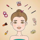 Morning Make up — Stock Vector