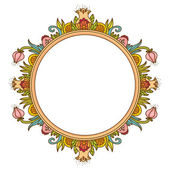 Frame with flowers — Stock Vector