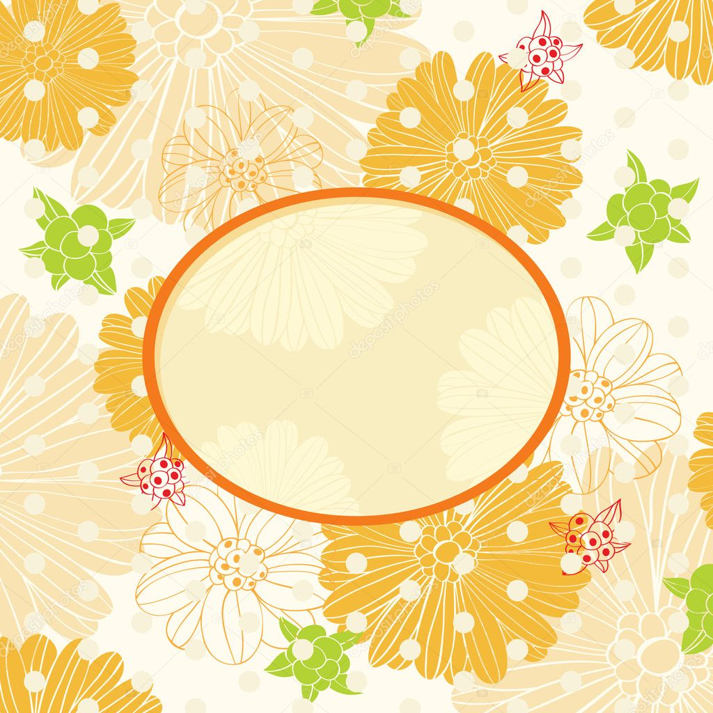 Floral background with sunny mood — Stock Vector #9828132