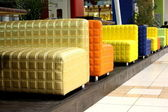 Colored sofas — Stock Photo