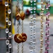 Street storefront with beads — Stock Photo
