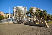 Lyrics malagueta, on the beaches of Malaga — Stock Photo