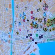 tourist map of malaga — Stock Photo