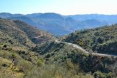 Curves in a region of mountainous roads of Malaga — Stock Photo