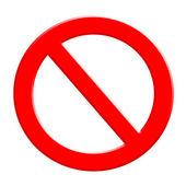 Niet toegestaan teken — Stockfoto