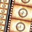 Historical film strip - Stock Photo
