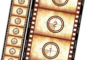 Historical film strip — Stock Photo