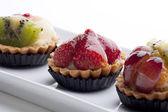 Fruit Tarts — Stock Photo