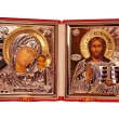 Christian metallic Orthodox icon — Stock Photo