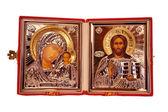 Christian metallic Orthodox icon — Stock Photo