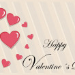 Valentine motives greeting card — Stock Photo