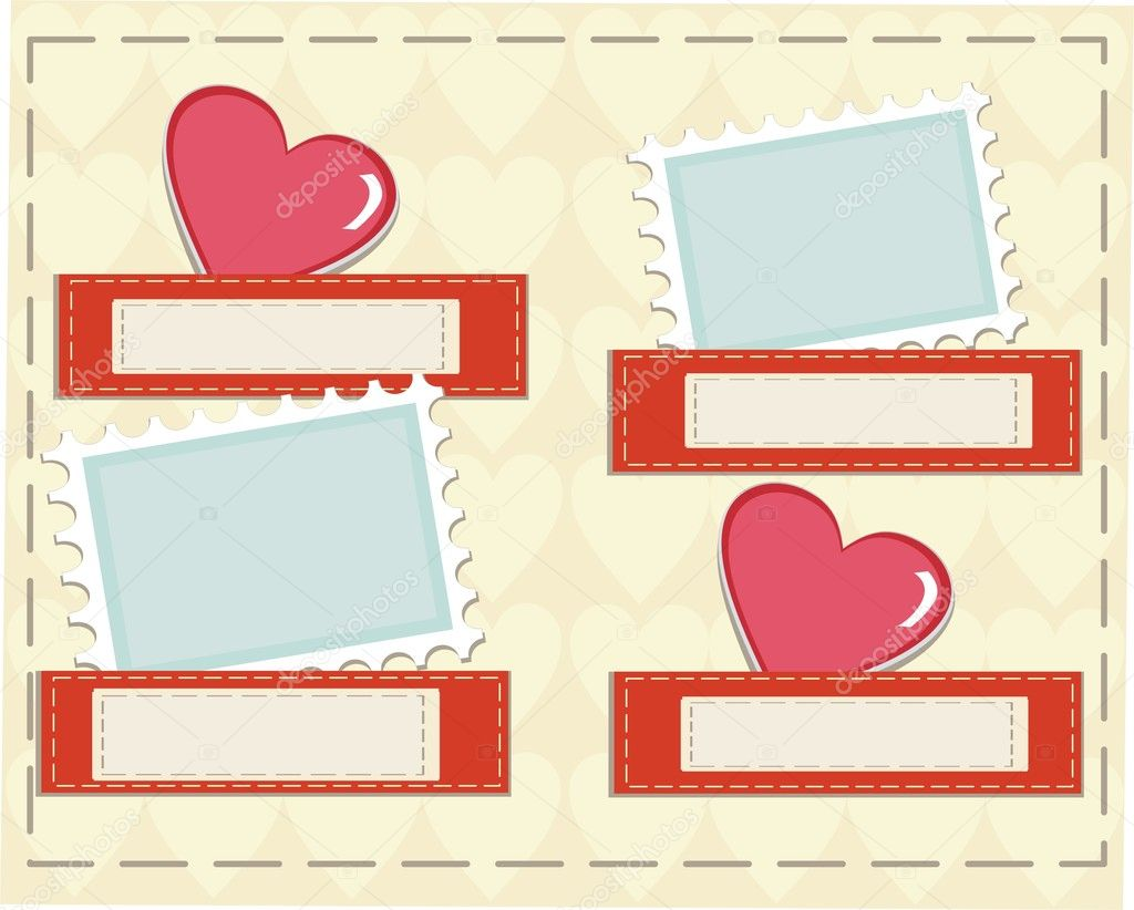 Valentine motives greeting card  — Stock Photo #8461276