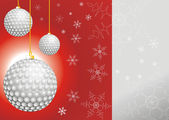 Julgranskulor som golfbollar — Stockfoto