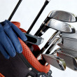Golf clubs on white — Stock Photo
