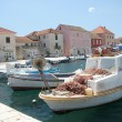 Harbour of Stary Grad, Hvar with boats — Stock Photo