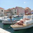 Stock Photo: Harbour of Stary Grad, Hvar with boats