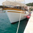 Harbour of Hvar with boats — Stock Photo #8497389