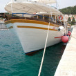 Harbour of Hvar with boats — Stock Photo