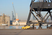 Cranes in the port — Stockfoto