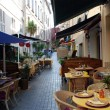 Restaurants in the provence - Stock Photo