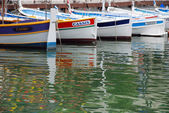 Old fisherboats in Cassis — Stock Photo