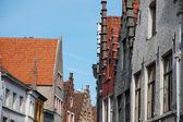 Fachadas en Brujas (Bélgica) — Foto de Stock