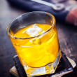 Hard Liquor with Orange juice — Stock Photo