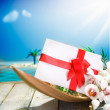 Romantic gift in tropical paradise — Stock Photo