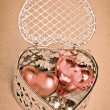 Valentines gift of hearts — Stock Photo